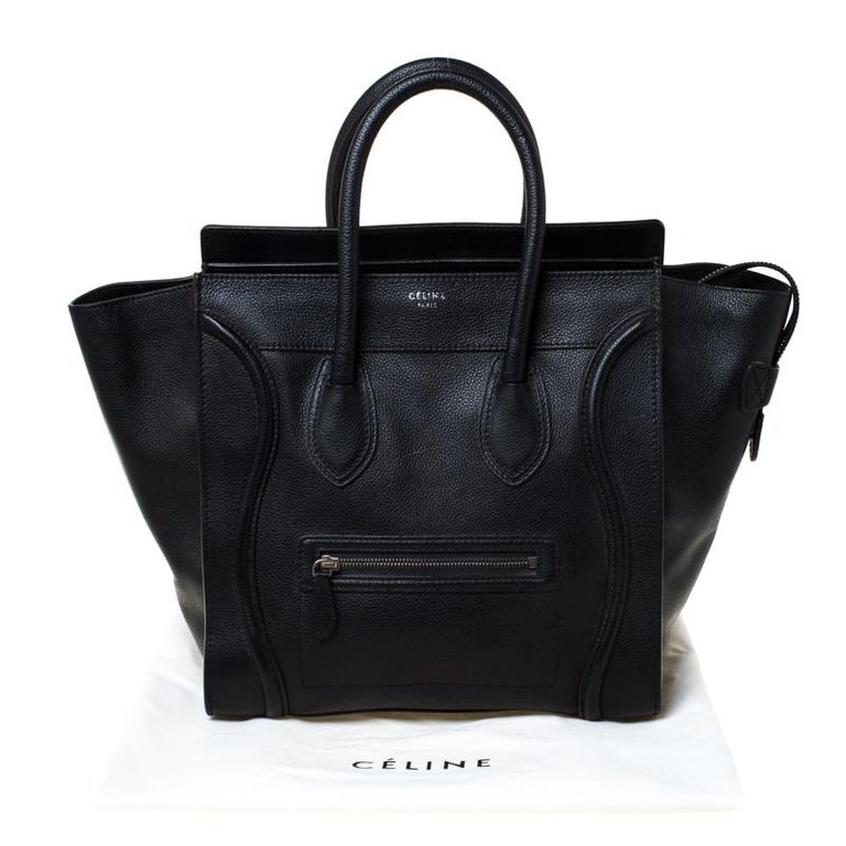 Celine Black Leather Mini Luggage Tote 9