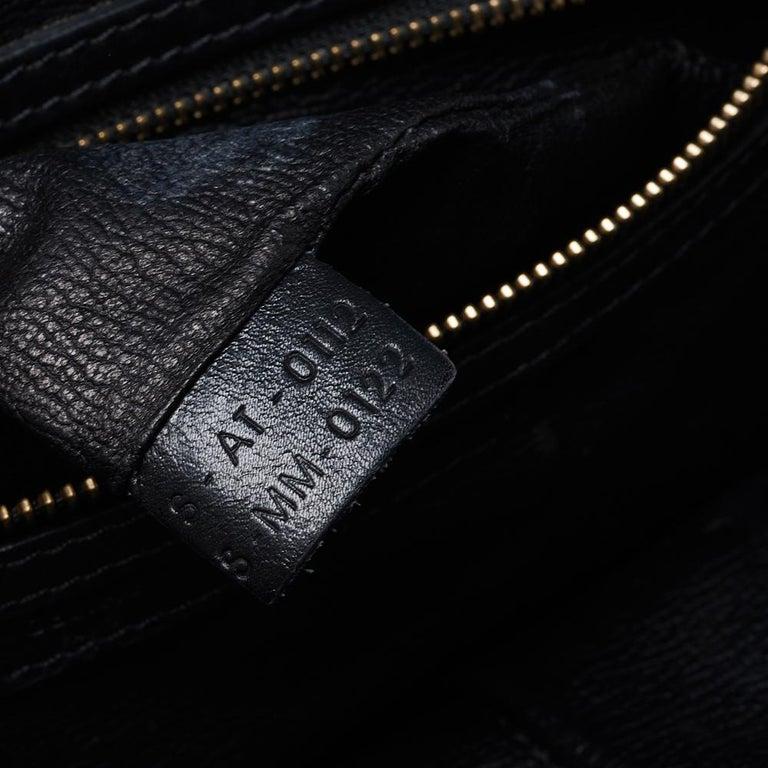 Celine Black Leather Mini Luggage Tote For Sale 9