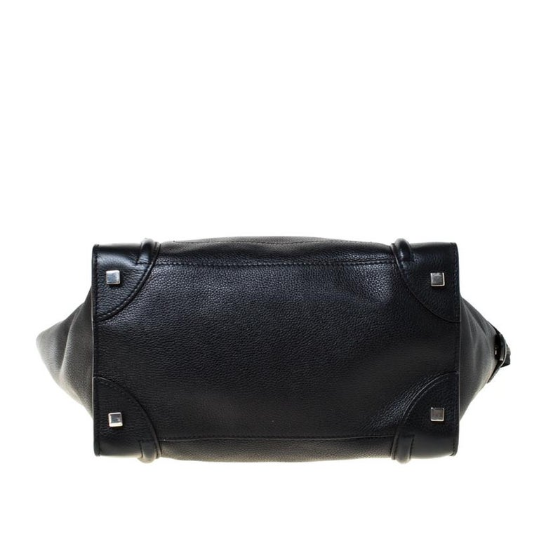Celine Black Leather Mini Luggage Tote 1