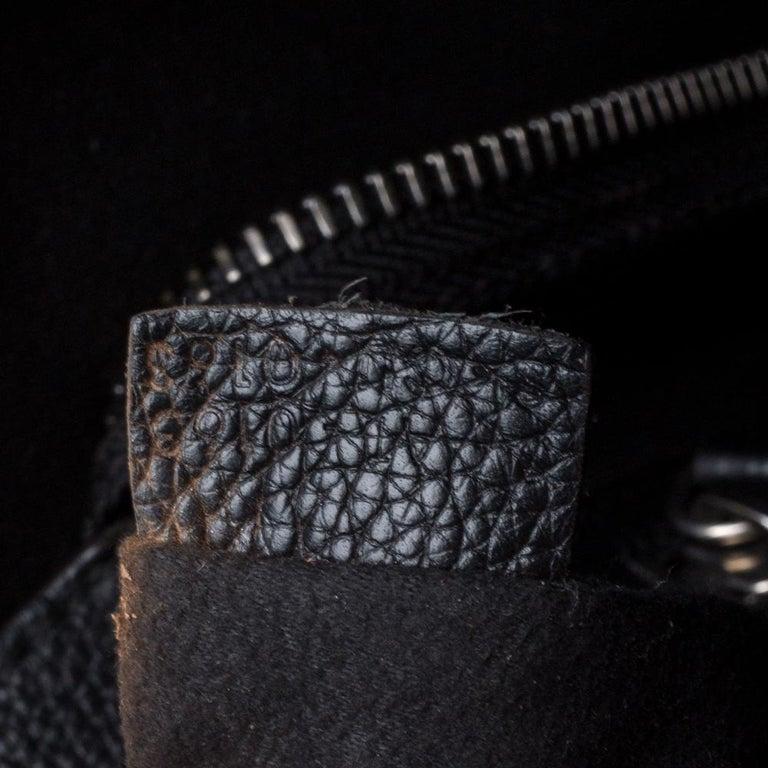 Celine Black Leather Mini Luggage Tote For Sale 3