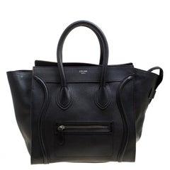 Celine Black Leather Mini Luggage Tote