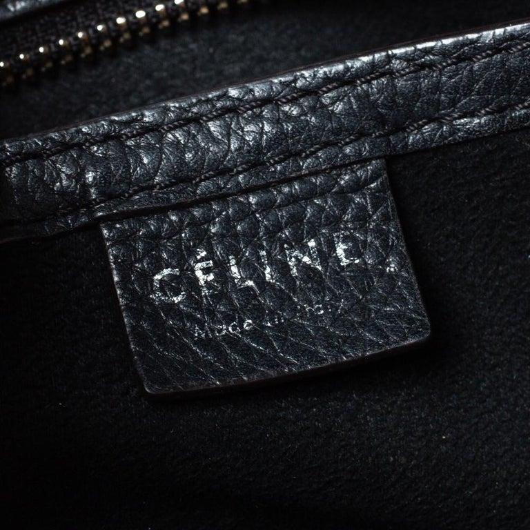 Celine Black Leather Nano Luggage Tote 3