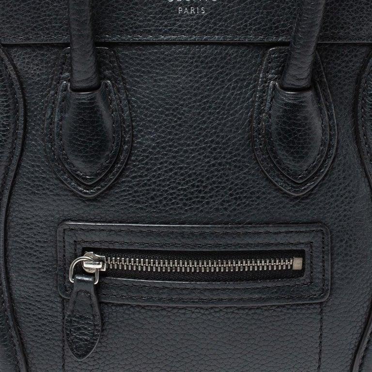 Celine Black Leather Nano Luggage Tote 4
