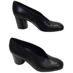 Celine Black Leather Pumps