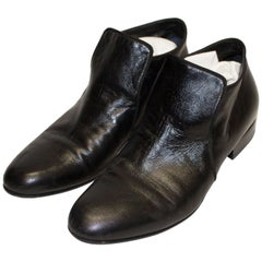 Celine Black Leather Shoe Boot