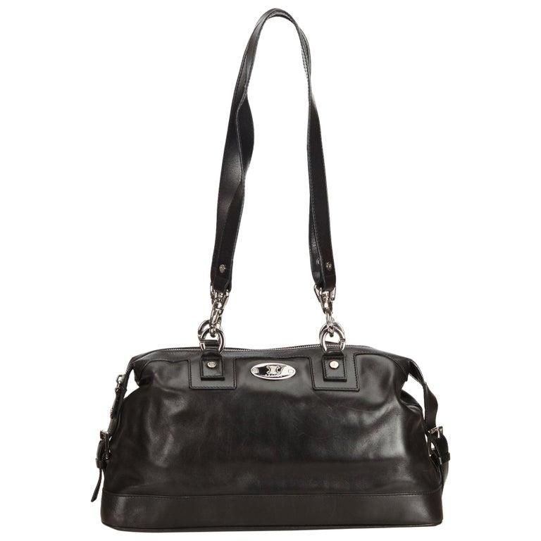 Celine Black Leather Shoulder Bag at 1stdibs 30b3365aa1e7a
