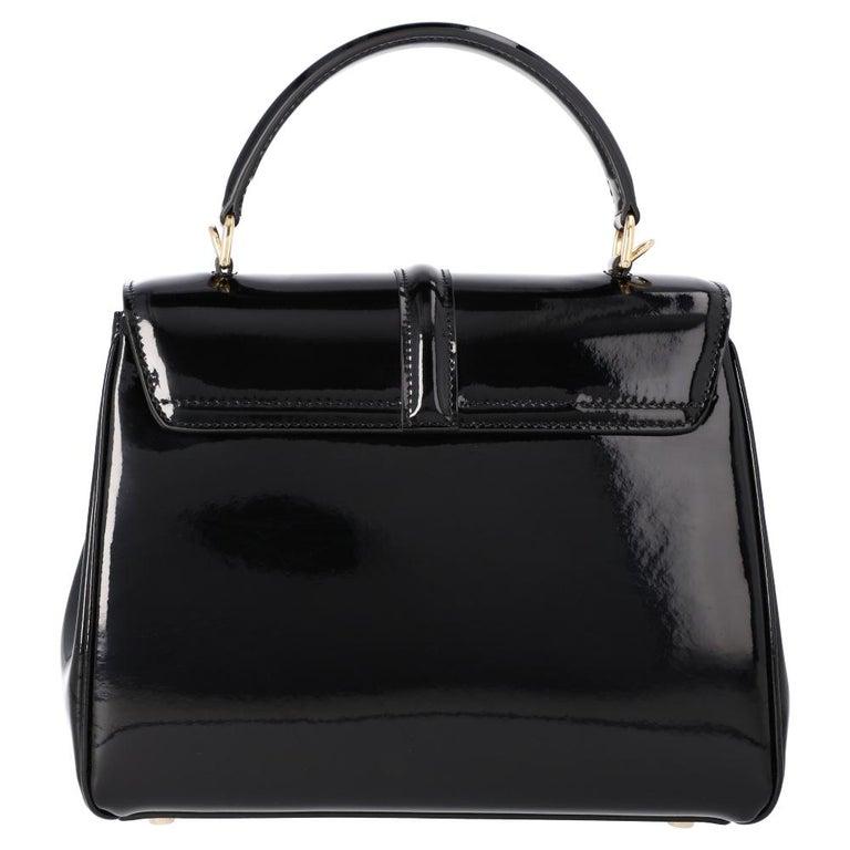 Celine Black Leather Small 16 Bag In New Condition For Sale In Dubai, Al Qouz 2