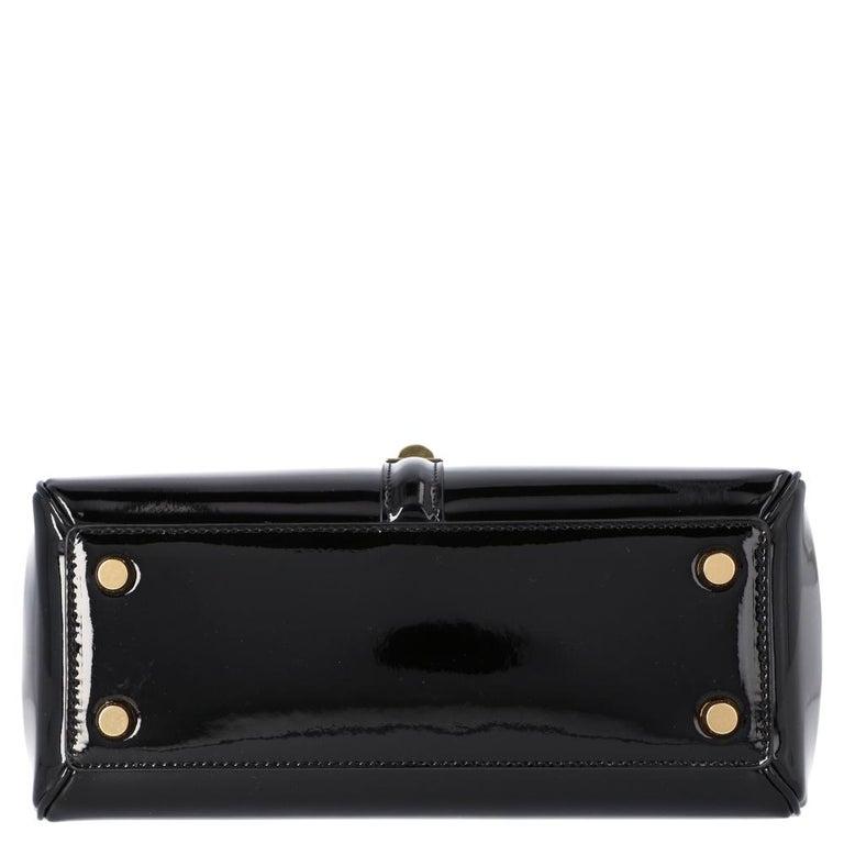 Celine Black Leather Small 16 Bag For Sale 1