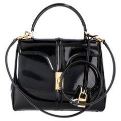 Celine Black Leather Small 16 Bag
