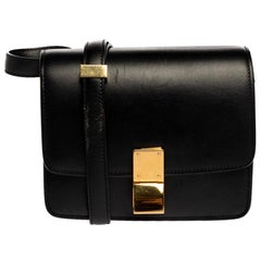 Celine Black Leather Small Box Bag