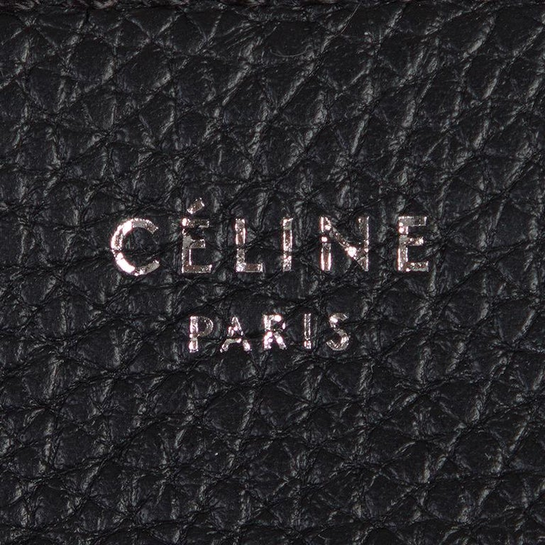 CELINE black leather & suede TRAPEZE SMALL Shoulder Bag For Sale 1