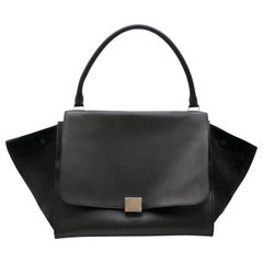 Celine Black Leather Trapeze Handbag