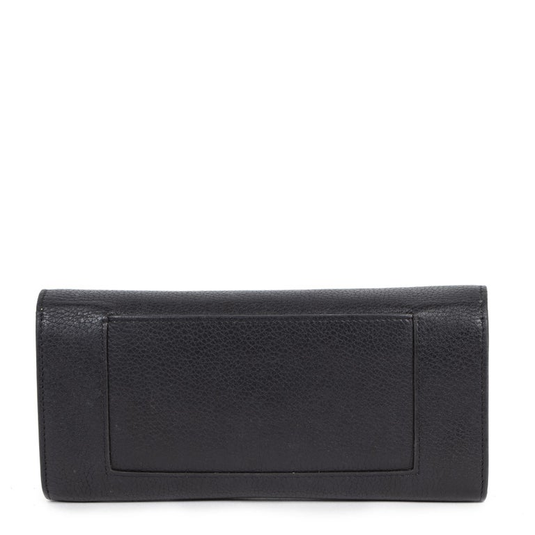 Celine Black Leather Wallet In Good Condition For Sale In Antwerp, BE