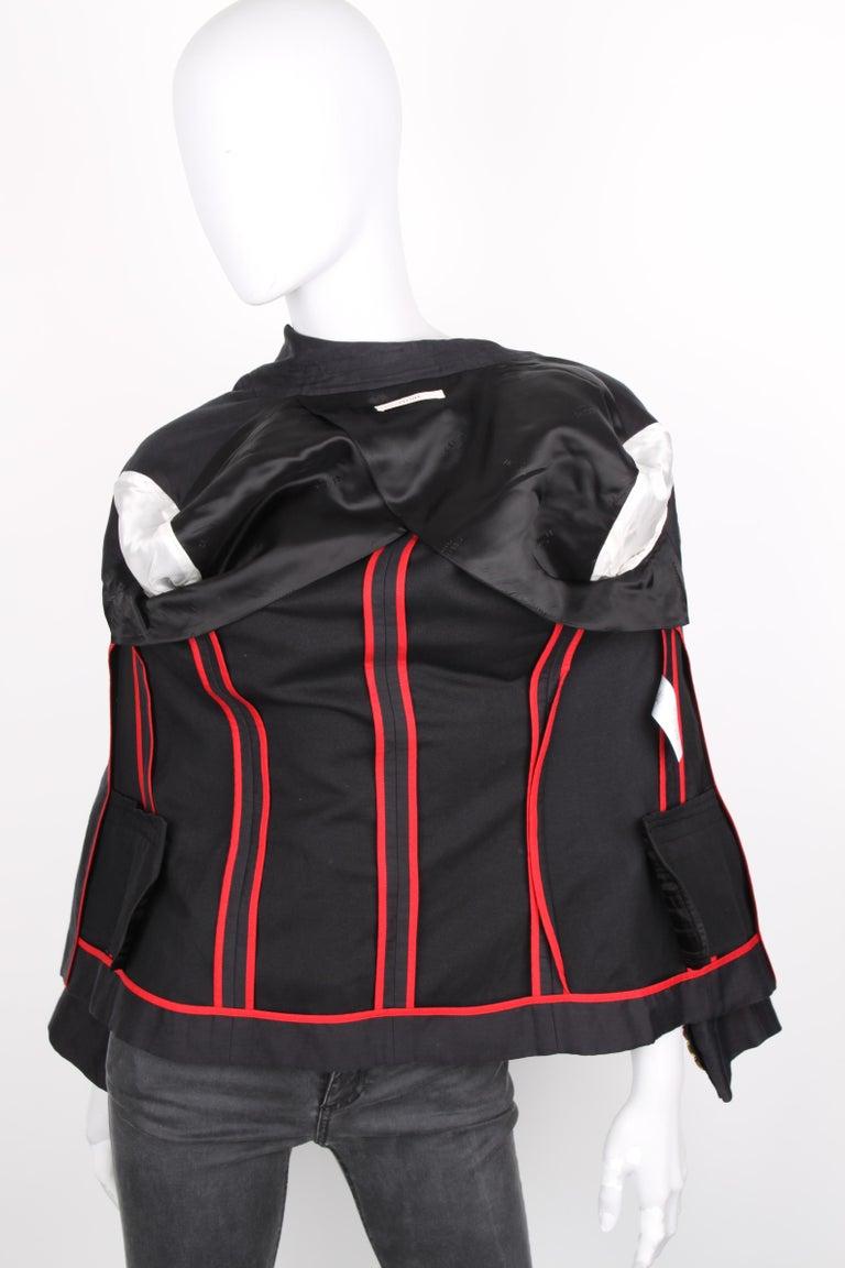 Céline Black Linen Double Breasted Longsleeve Blazer For Sale 1