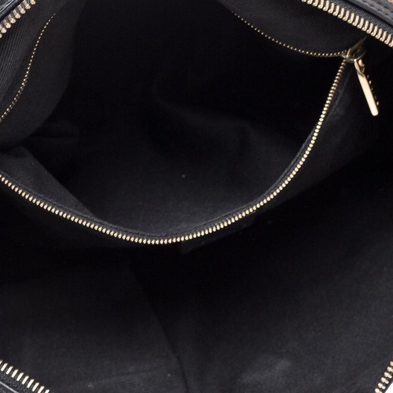 Celine Black Macadam Coated Canvas and Leather Satchel 4