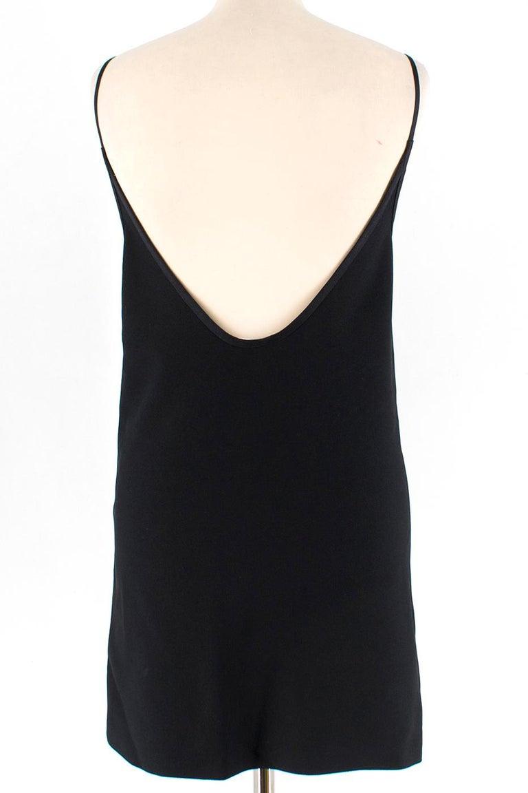 Celine Black Open Back Mini Dress UK 10 In Excellent Condition In London, GB