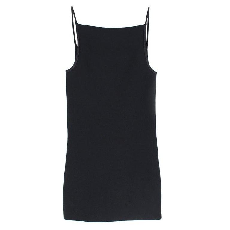 Women's Celine Black Open Back Mini Dress UK 10