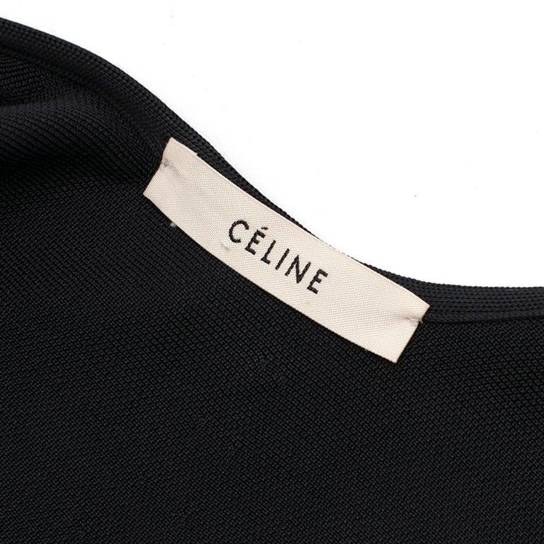 Celine Black Open Back Mini Dress UK 10 1