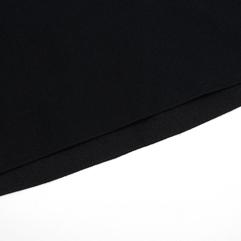 Celine Black Open Back Mini Dress UK 10 3
