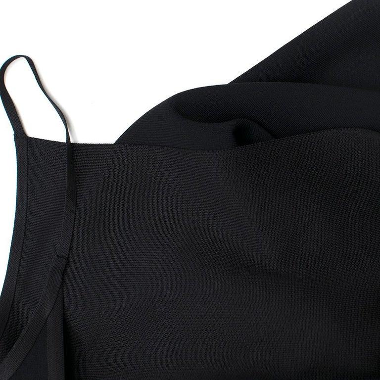 Celine Black Open Back Mini Dress UK 10 5