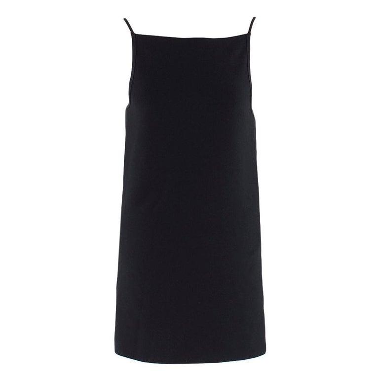 Celine Black Open Back Mini Dress UK 10