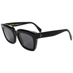 Celine Black Resin 807bn Sunglasses W/ Case