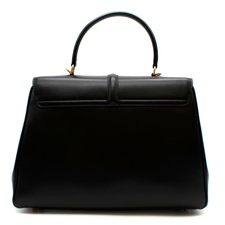 Celine Black Satinated Calfskin Medium 16 Bag In New Condition For Sale In London, GB
