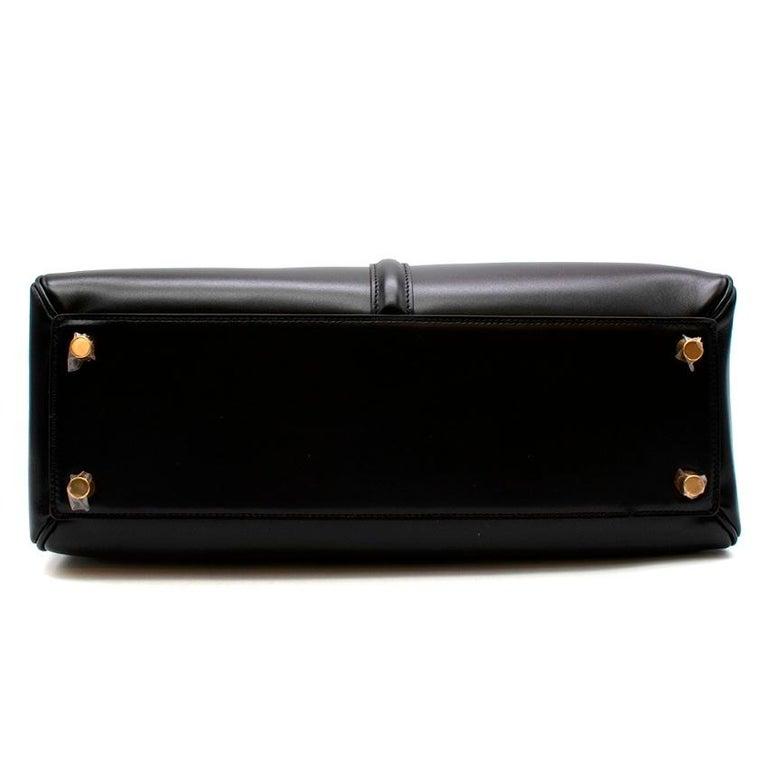 Celine Black Satinated Calfskin Medium 16 Bag For Sale 1