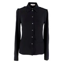 Celine Black Silk Blouse XS 36