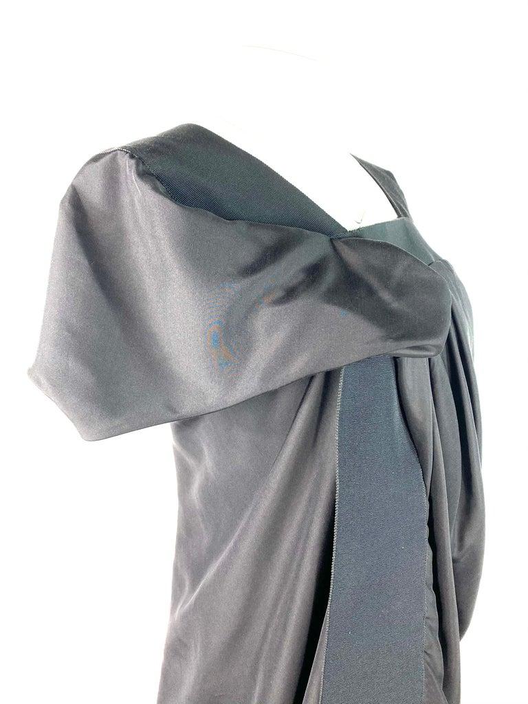 Celine Black Silk Mini Dress, Size 42 For Sale 1
