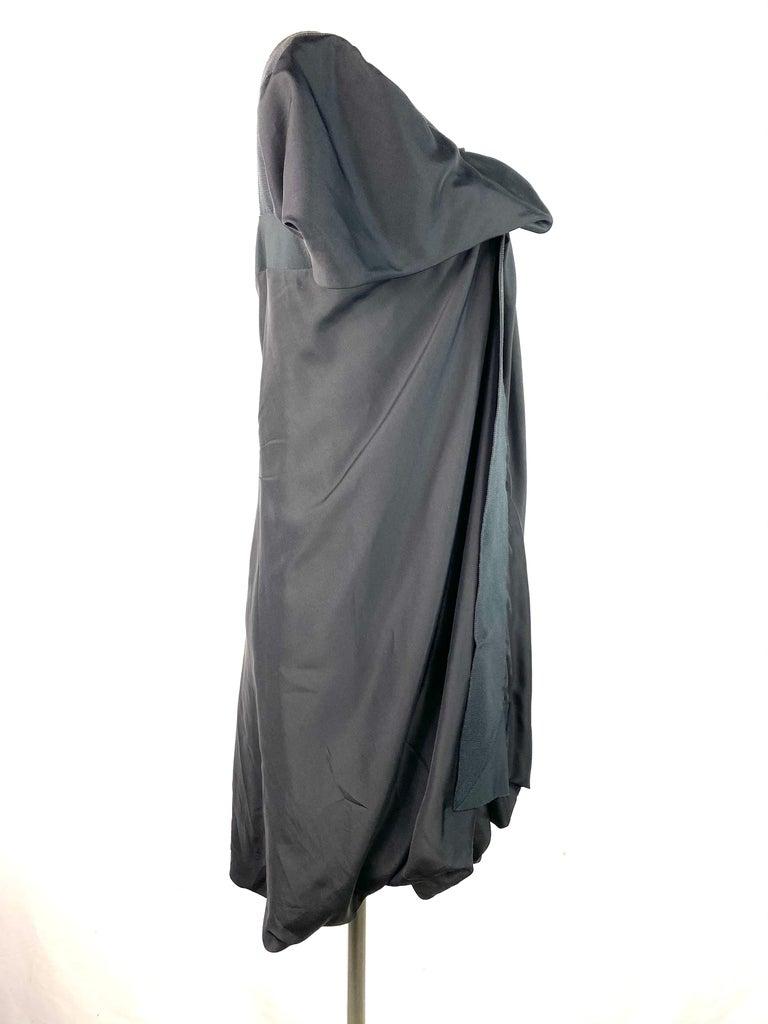 Celine Black Silk Mini Dress, Size 42 For Sale 2