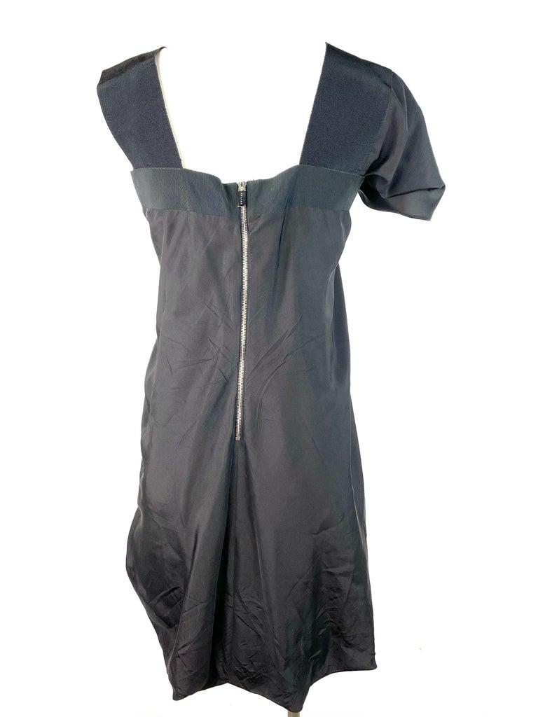 Celine Black Silk Mini Dress, Size 42 For Sale 3