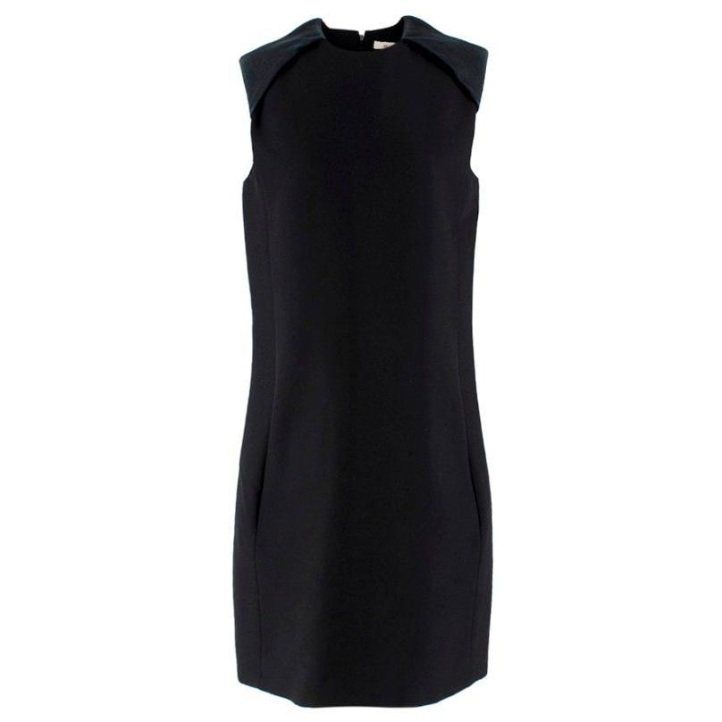 Celine Black Sleeveless Shift Dress - Size US 10
