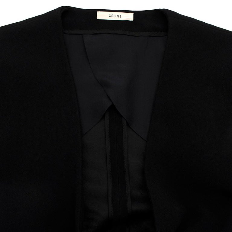 Women's or Men's Celine Black Tailored Peplum Belted Jacket  For Sale