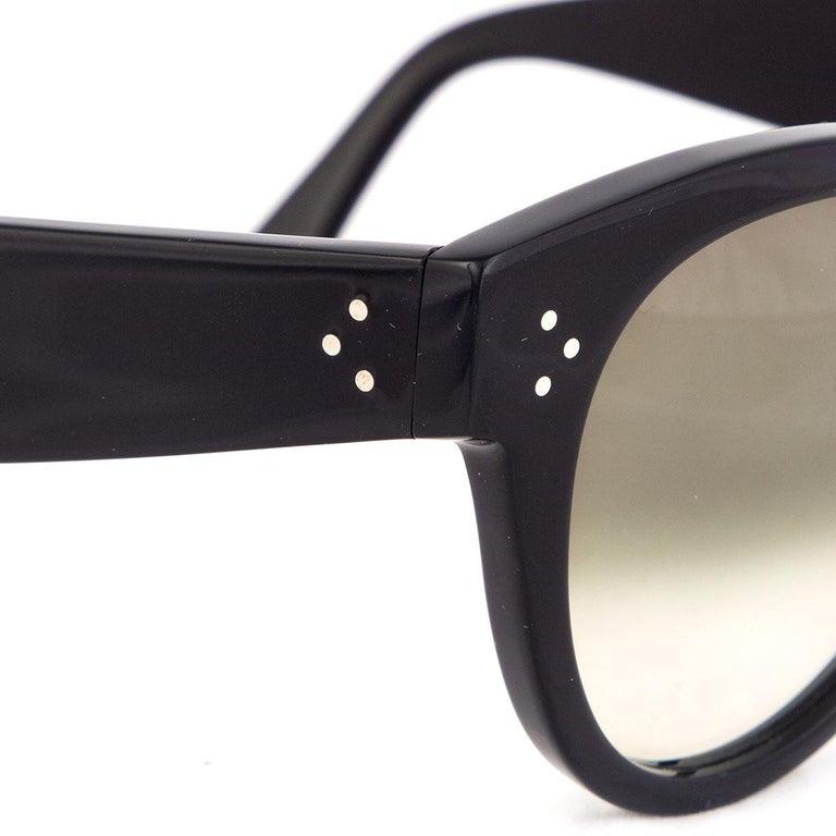 Black CELINE black THIN PREPPY Sunglasses gradient Lens CL-41049 807/XM For Sale