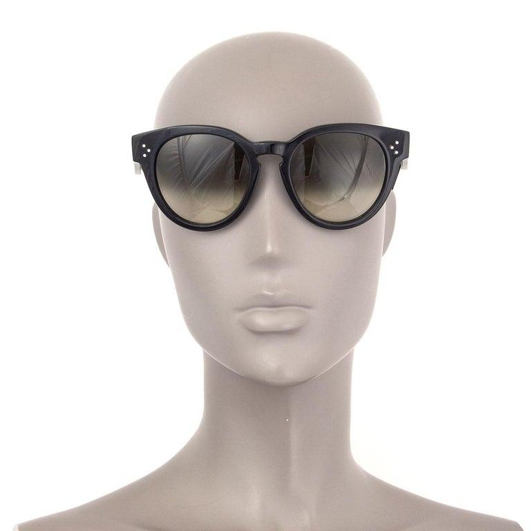 CELINE black THIN PREPPY Sunglasses gradient Lens CL-41049 807/XM For Sale 1