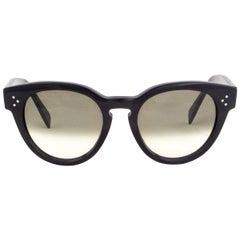 CELINE black THIN PREPPY Sunglasses gradient Lens CL-41049 807/XM