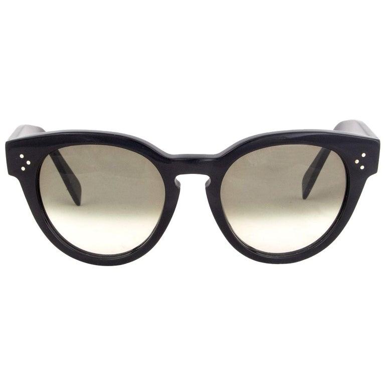CELINE black THIN PREPPY Sunglasses gradient Lens CL-41049 807/XM For Sale
