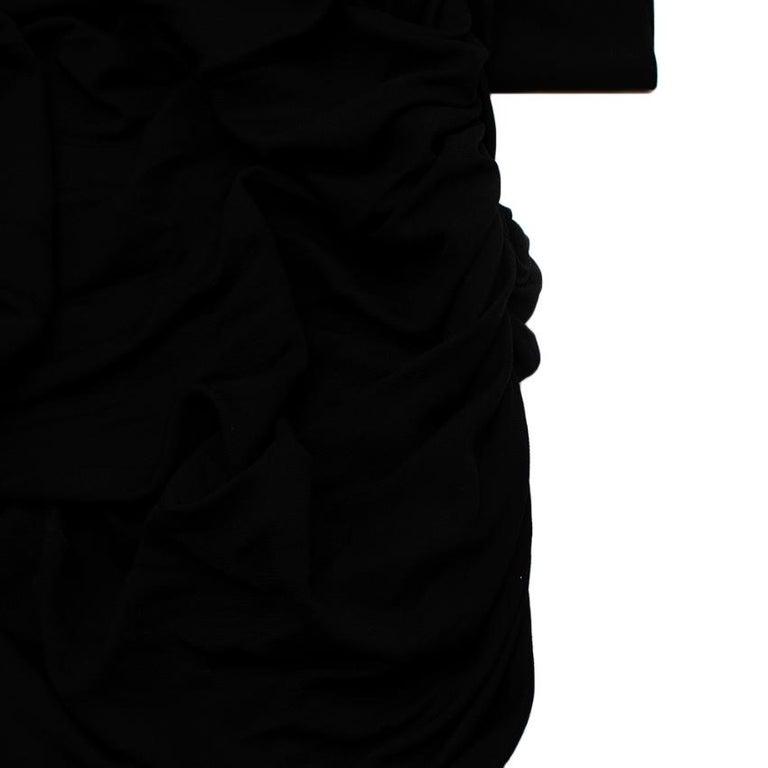 Celine Black Vintage Ruched Fitted Dress - Size M  For Sale 1