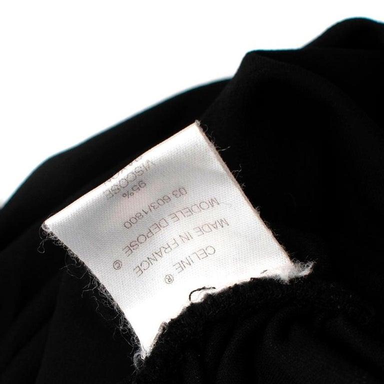 Celine Black Vintage Ruched Fitted Dress - Size M  For Sale 2