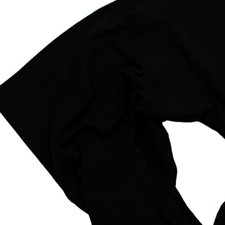 Celine Black Vintage Ruched Fitted Dress - Size M  For Sale 3