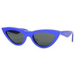 Celine Blue 56MM Cat Eye Sunglasses CL400191 rt. $460