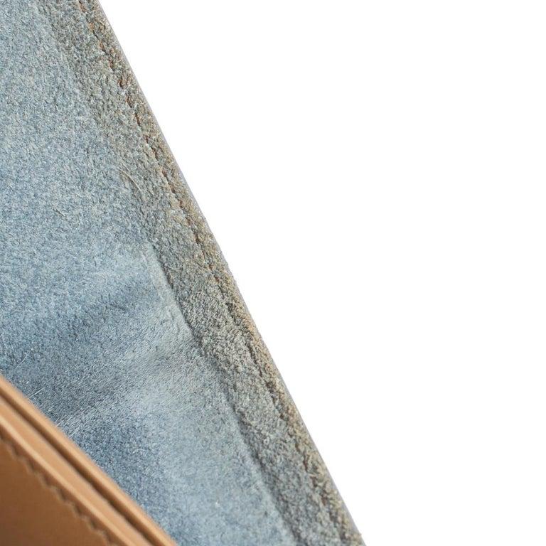 Celine Blue/Brown Leather Multifunction Strap Wallet For Sale 1