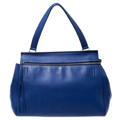 Celine Blue Leather Large Edge Bag