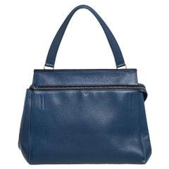 Celine Blue Leather Medium Edge Top Handle Bag