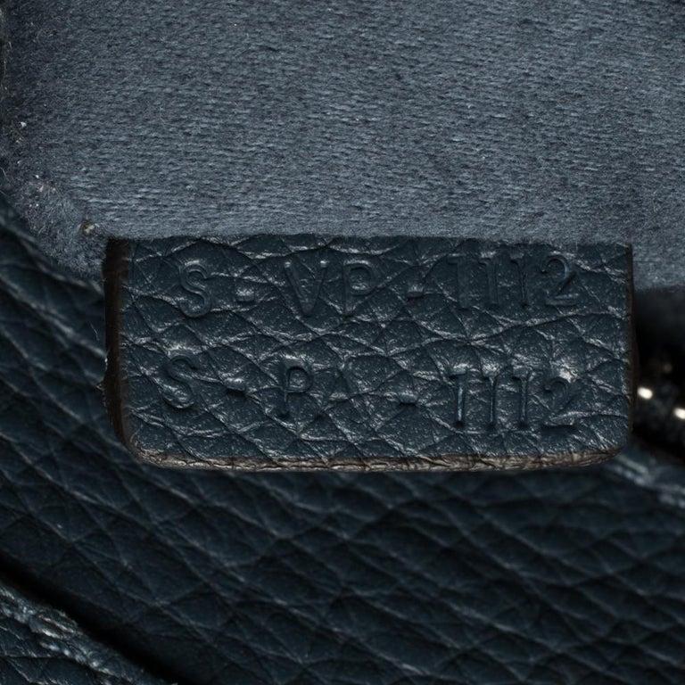 Céline Blue Leather Mini Luggage Tote For Sale 1