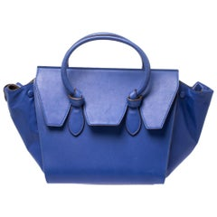 Celine Blue Leather Mini Tie Tote
