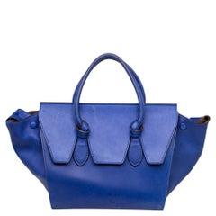 Celine Blue Leather Mini Tie Tote