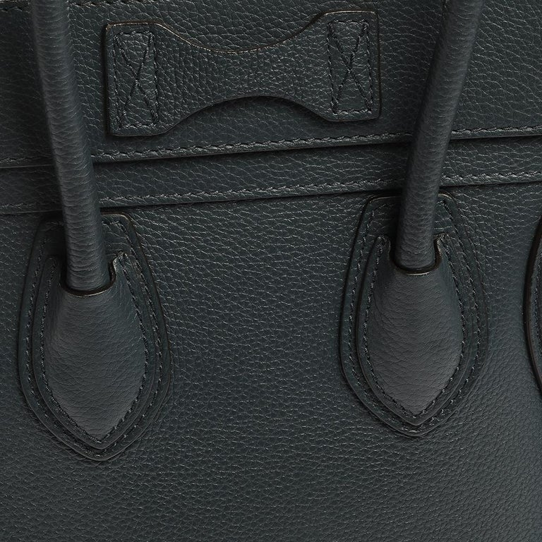 Celine Blue Smooth Leather Micro Luggage Tote For Sale 1