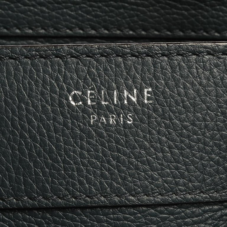 Celine Blue Smooth Leather Micro Luggage Tote For Sale 3